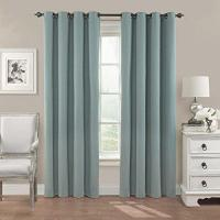 Eclipse Nadya Solid Blackout Window Curtain Panel, 84-Inch, Smokey Blue Manufactures