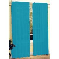 New 2 Pc Sheer Voile Window Curtain Panel Set Turquoise Manufactures