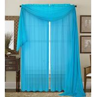 1kidandaheadache 2pc Soft Turquoise Voile Fully Stiched Elegant Sheer Panels 60 84 Manufactures
