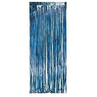 Creative Converting 141006 Foil Fringe Door Party Curtain, 3 x 8′, Blue Manufactures