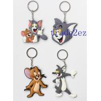 Buy cheap 2016629152039Animation Tom and Jerry Cartoon Double sided PVC Keychains from wholesalers
