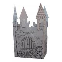 colorful house building cardboard display,beautiful paper castle Manufactures