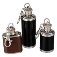 China Stainless steel hip flask Item No.:leather-wrapped-mini-hip-flask on sale