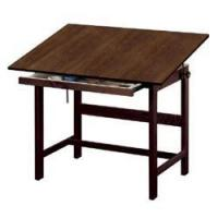 "China Titan Solid Oak Drafting Table w Drawer 42""L x 31""W x 37""H Walnut Finish on sale"