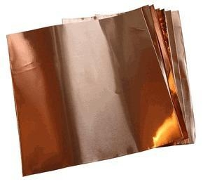 """Quality Copper Sheets and Rolls 6"""" X 6""""/1.4 Mil Copper Foil (.0014"""") (10 sheets) for sale"""