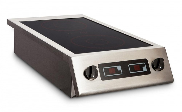 Quality 2 x 3kW x Two Zone Table-top Induction Hob CS3000GT for sale