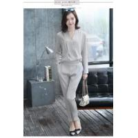 Hot V-Neck Long Sleeve Overall Pants Women's Jumpsuit Plus Size Manufactures