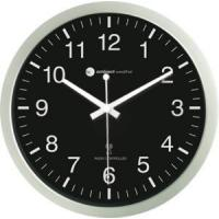 Ambient Weather RC-1200BSN 12 Atomic Radio Controlled Wall Clock, Black / Silver Manufactures