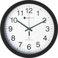 Ambient Weather RC-1200WB 12 Atomic Radio Controlled Wall Clock, White / Black Manufactures