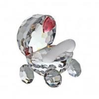 Buy cheap Preciosa Crystal Stroller with Pink Heart Figurine from wholesalers