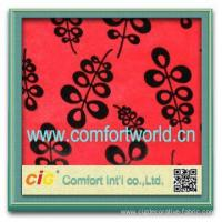 Fashion new design burn-out tricot ( velour) indian fabric wholesale Manufactures