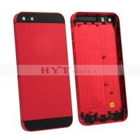 China Original Back Housing Battery Door Cover Plate For iPhone 5 Red on sale