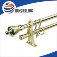 China Gold Color Adjustable Double Curtain Rods on sale
