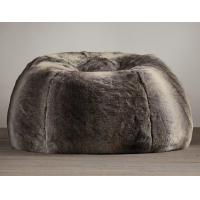 China All Grand Luxe Faux Wolf Fur Bean Bag Chair on sale
