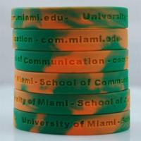China Custom Debossed Colorful Silicone Bracelets wholesale