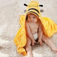 China cotton fabric baby hooded towel wholesale