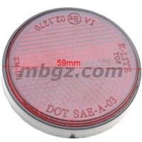 China Red MOTORCYCLE REFLECTOR DIRT BIKE SCOOTER QUAD REAR REFLECTOR ROUND LICENSE PLATE on sale
