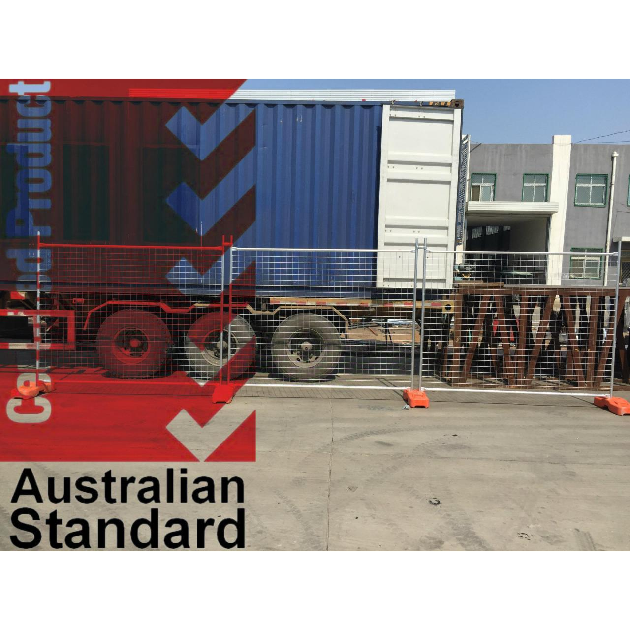 Economic Temporary Fence For Sales Business -17 Microns Zinc Layer HDG before Weld Manufactures