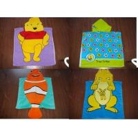 100% Cotton velour reactive printed hooded towel poncho Manufactures
