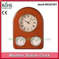 Wooden thermometer hygrometer weather station