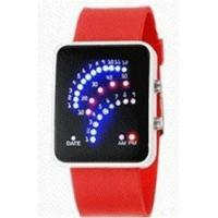 Fan shape Led Sport Silicone Digital Wrist watches Manufactures