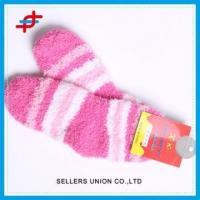 China Girls' Warm Terry Towelling Socks Cotton Terry Fluffy Floor Socks on sale