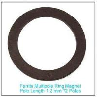 China Plastic Bonded Strontium Ferrite Multipole Ring Magnet 72 poles for Sensor on sale