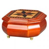Octagonal Wooden Jewellery Case with Mosaic Design Manufactures