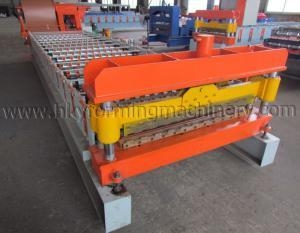 Quality C20 Material Color Steel Plate Roofing Roll Forming Machine for sale