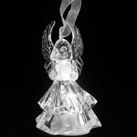 Christmas Hanging Crystal Decoration - Small Angel (White) Manufactures