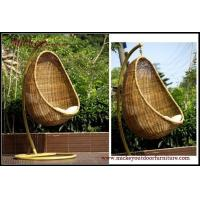 China Wrought iron outdoor furniture hanging garden rocking chair on sale