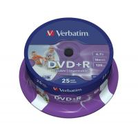 Buy cheap Verbatim DVD+R Inkjet Print Spindle Ref 43539 [Pack 25] from wholesalers