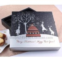 Square Christmas Gift Paper Box for Chocolate Manufactures