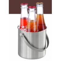 IB042 1L-2L-3L Ice Bucket Wine Cooler Beer Cooler with Handle Stainless Steel Barware Manufactures