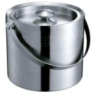 IB047-04 2.2L Stainless Steel Double-Walled Bar Ice Bucket Wine Cooler Ice Container With Lid Manufactures