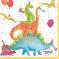 Partysaurus Paper Luncheon Napkins - 20 per package Manufactures