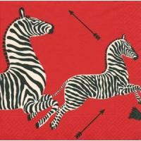 Zebras Red Paper Luncheon Napkins - 20 per package Manufactures