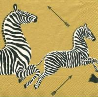 Gold Zebras Paper Luncheon Napkins - 20 per package Manufactures