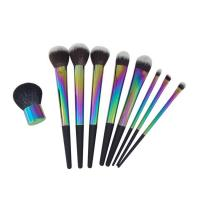 Makeup Brush set 9 pcs colorful synthetic hair makeup brush set Manufactures