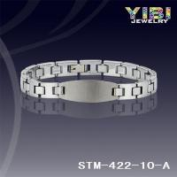 China Products: 10mm Two Tone Tungsten Carbide Bracelet Dotted with Small Links in Middle STM-422-10-A on sale