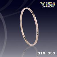 China Products: Tungsten Carbide Womens Faceted and IP Gold Plating Bangle Bracelet STM-350 on sale