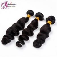 Buy cheap 3pcs/lot 100% Peruvian Virgin Human Hair Weave Loose Wave Weft 8