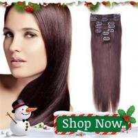 Buy cheap 4# Brown 7pcs/70g Clip in Indian Remy Hair from wholesalers