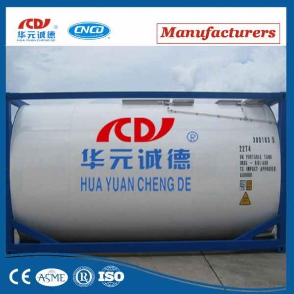 Quality Chemical LOX/LIN/Lar/LCo2 Iso Cryogenic Storage Tank Container for sale