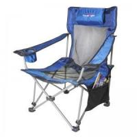 China Folding Chair Folding Beach Chair,Camping Reclining Chair With Side Pocket on sale