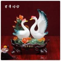 Buy cheap Wholesale wedding decoration swan, couple swan statue from wholesalers