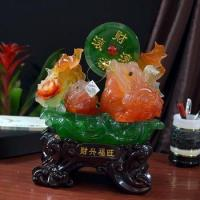 Jade color lucky money frog statue hot sales Manufactures