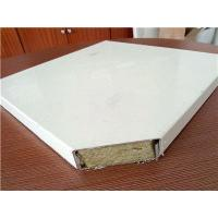 China Heat Insulation Rock Wool Sandwich Panels for Mobile House on sale