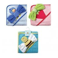 China Bath Fancy Hooded Towel &Washcloths -Woven Terry wholesale