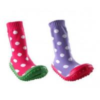 China Girl Non-Skid Rubber Sole Socks wholesale